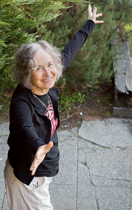 Linda Waterfall at her Seattle, Washington home in 2015.