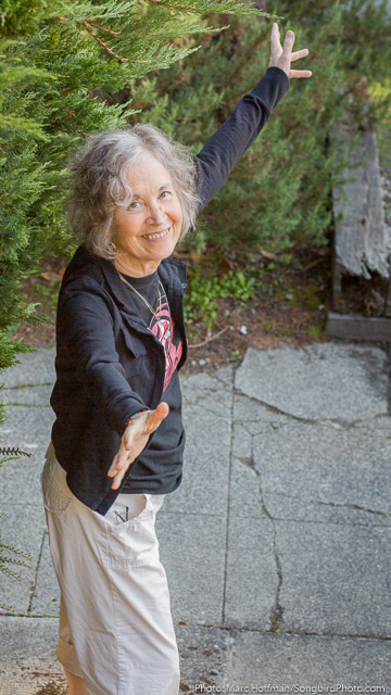 Linda Waterfall at her Seattle home, Sept. 2015. Photo: Marc Hoffman.